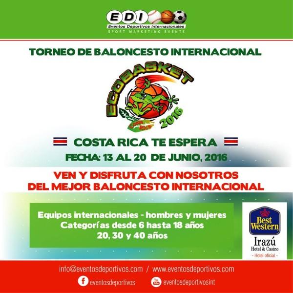 Ven a Costa Rica: Torneo Internacional EcoBasket